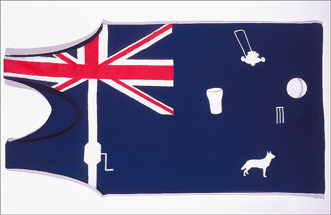 John Doyle art: The Backyard Flag